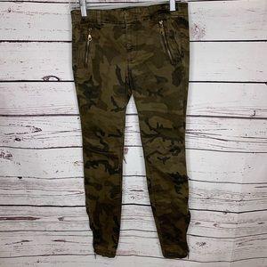 Zara Basic camouflage skinny jeans